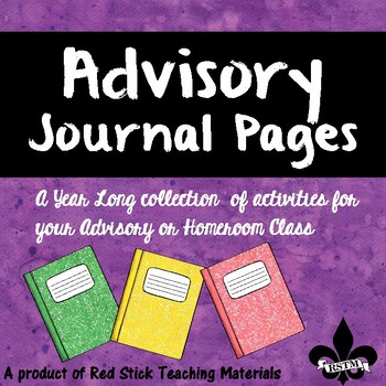 Advisory Journal Pages--NO PREP