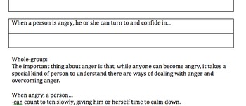 Advisory Lesson Plan: Anger Management Activity & Handouts COMMON CORE