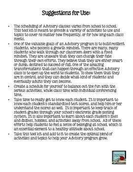 Advisory Program Tool Kit