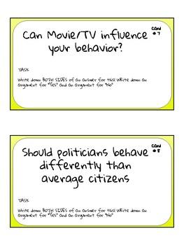 Advisory activity- behavior task cards