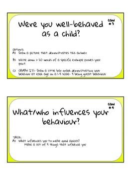 Advisory activity- behaviour task cards