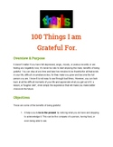 Advisory homeroom lesson: being grateful