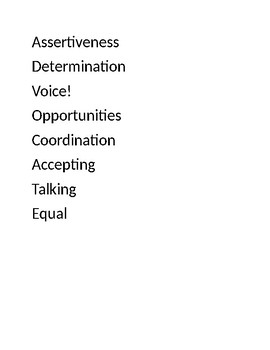 Advocacy  Acrostics Poem!