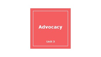 Advocacy PPT/Lessons