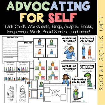 Advocating for Self Social Skills Unit (sped/autism/middle/high school)