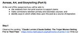Aeneas, Art, and Storytelling - Alternative Assessment (Part 2)