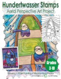 Aerial View Art Project - Hundertwasser Stamps