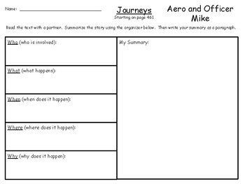 Aero and Officer Mike (3rd Grade Supplemental Materials)