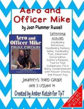 Aero and Officer Mike Activities 3rd Grade Journeys: Unit 3, Lesson 14