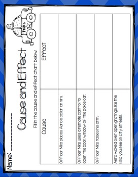 Aero and Officer Mike Book Study- Organizers and Interactive Notebook Pages