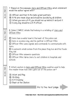 Aero and Officer Mike State Test Prep - 3rd Grade Journeys