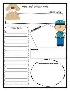 Aero and Officer Mike Story Map Graphic Organizer
