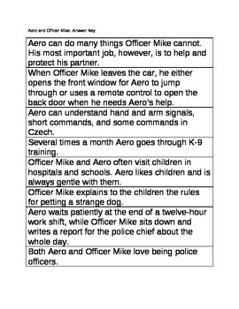Aero and Officer Mike: Story Sequencing