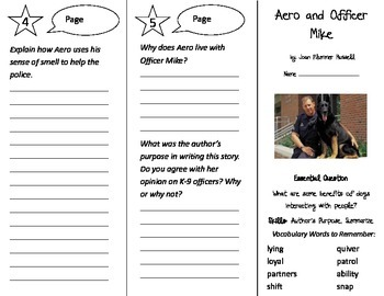 Aero and Officer Mike Trifold - Journeys 3rd Grade Unit 3 Week 4 (2014, 2017)