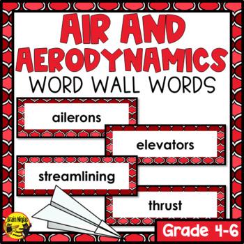 Aerodynamics & Flight Word Wall Words- Editable
