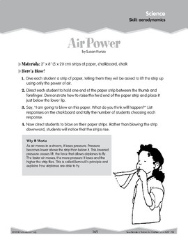 Aerodynamics (Ten-Minute Activities)