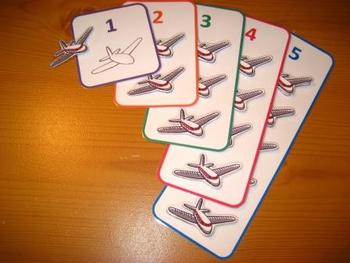Aeroplane Counting Game PDF - 5 Colorful Numbers Numeracy Maths SEN ABA