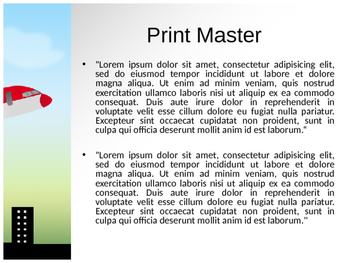 Aeroplane PPT Template