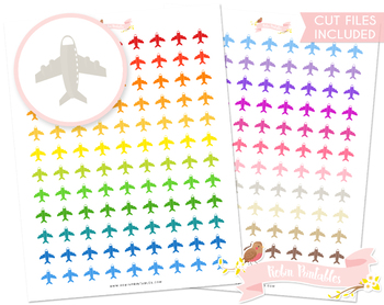 Aeroplane Printable Planner Stickers