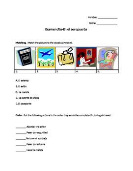 Aeropuerto Vocabulary Quiz-Airport Spanish Vocabulary Quiz
