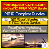 Aerospace Curriculum: Aircraft & Rockets 119 Day NO PREP MEGA Bundle