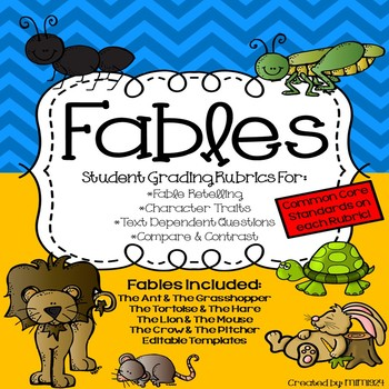 Recounting AESOP Fables-Student Rubrics