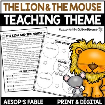 the lion and the mouse fable pdf