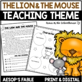 Teaching Theme The Lion and the Mouse | TpT Digital Activi