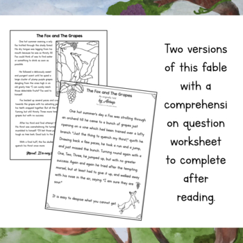 Aesop Fable Unit Study- The Fox and The Grapes