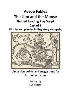 Aesop Fables The Lion and the Mouse Guided Reading Script or Readers Theater