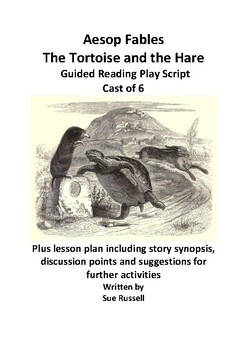 Aesop Fables The Tortoise and the Hare Cast of 6 Play plus lesson plan