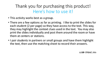 Aesop's Context Clues Print and GO!
