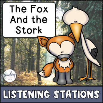 Aesop's Fable Reading Comprehension Center - The Fox and the Stork