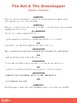 Aesop's Fable: The Ant & The Grasshopper Readers Theatre Script & Resources