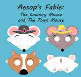 Aesop's Fable: The Country Mouse and the Town Mouse Printable Masks