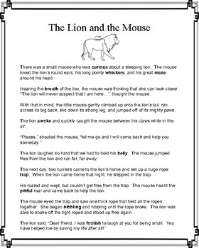 Aesop's Fable: The Lion and the Mouse