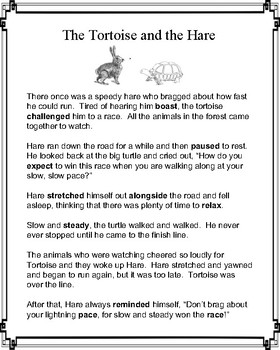 Aesop's Fable: The Tortoise and the Hare