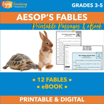 Aesop's Fables - 12 Printable One-Page Stories