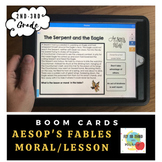 Aesop's Fables Moral or Lesson- Boom Cards- Distance Learning