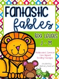Aesop's Fables: CCSS Aligned Leveled Reading Passages & Activities Levels J - M