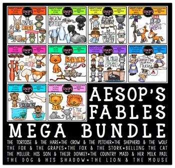 Aesop's Fables Clip Art Mega Bundle