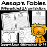 Aesop's Fables Differentiated Reading Centers