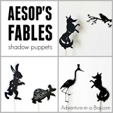 Aesop's Fables: Fox and Crow, Fox and Crane, Hare and Tortoise Shadow Puppets