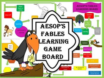 Aesop's Fables Language Arts Learning Game Board