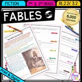Recount Stories: Fables - 2nd & 3rd Grade RL.2.2 / RL.3.2 - Printable & Digital