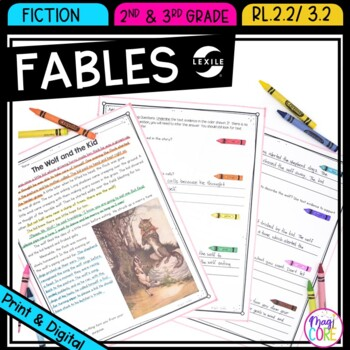 Aesop's Fables Passages and Comprehension Questions- RL.2.
