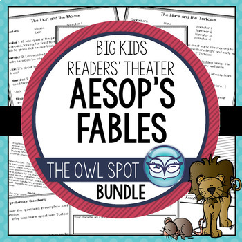 Aesop's Fables Readers' Theater for Big Kids Bundle