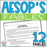 Aesop's Fables Reading Passages - Theme, Vocabulary, Text Evidence