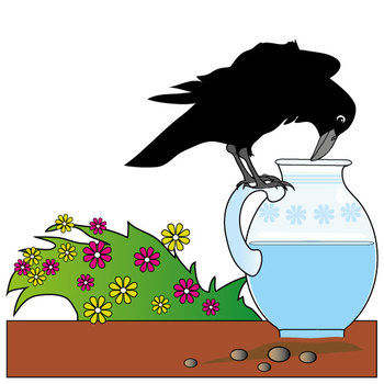 Aesop's Fables - The Crow and the Pitcher