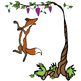 Aesop's Fables: The Fox and the Grapes   Free Clip Art Set
